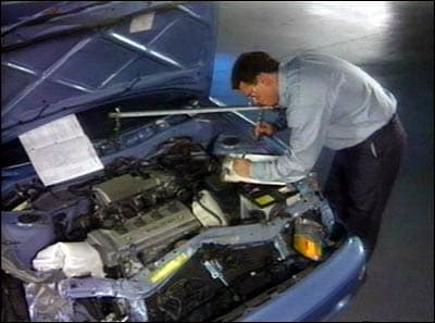 Toyota collision inspection